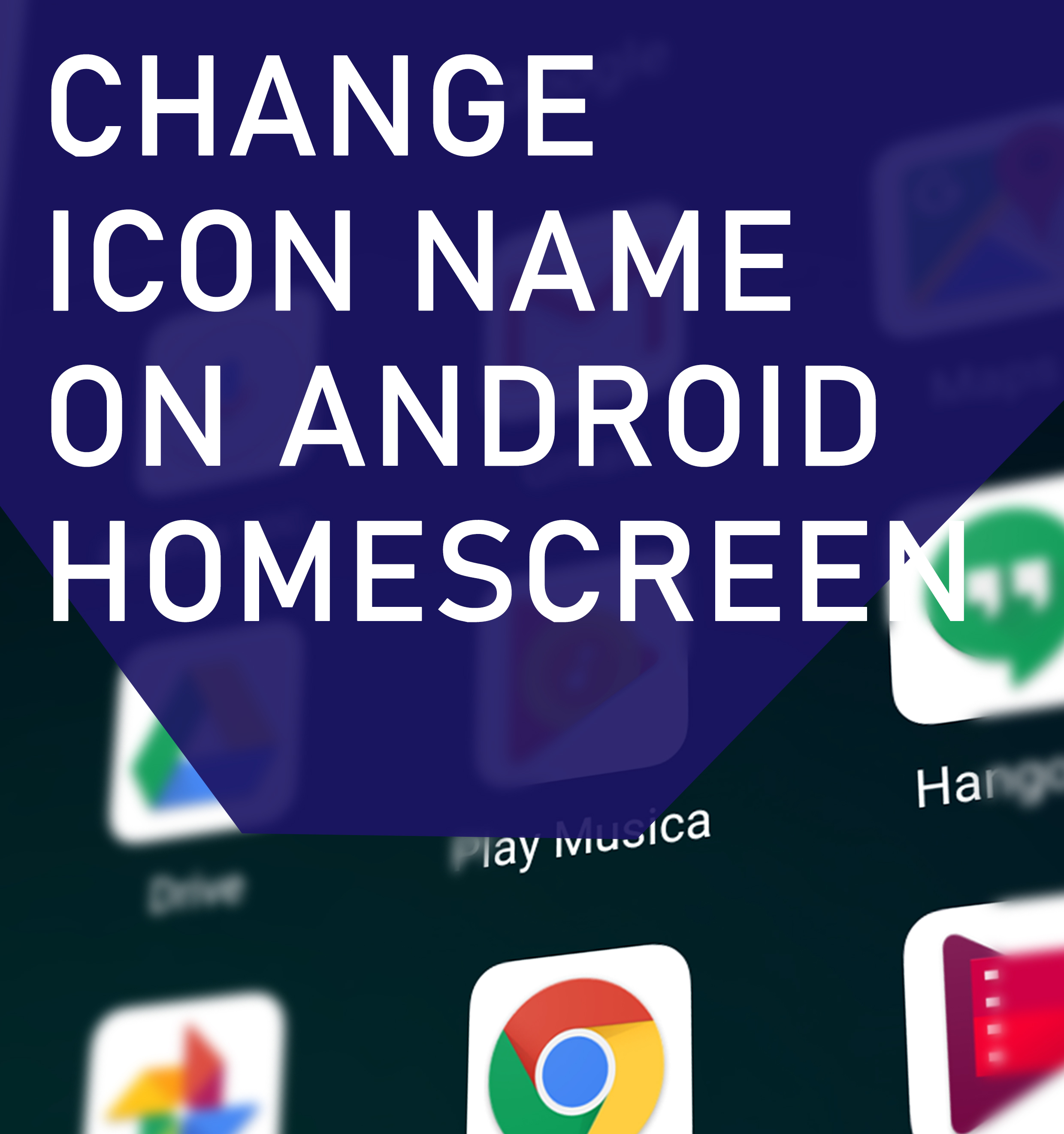 Change Icon Name On Android Homescreen Blinking Switch